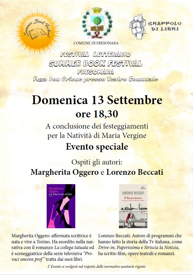 FESTIVAL LETTERARIO SUMMER BOOK FESTIVAL