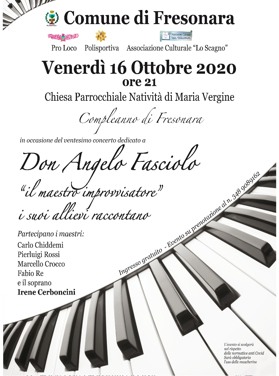 Compleanno di Fresonara. Ventesimo Concerto dedicato a Don Angelo Fasciolo